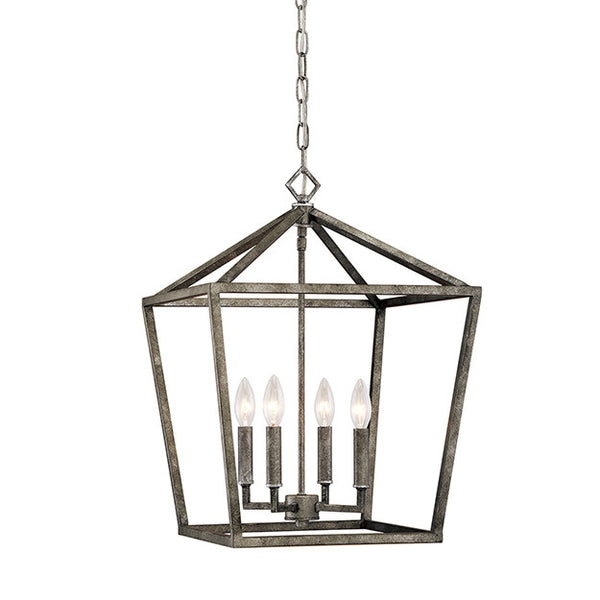 Geometric cage lantern in distressed gold lighting connection aloadofball