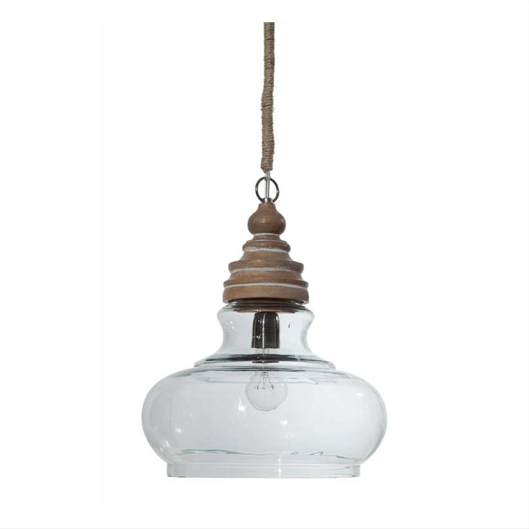 Grange Mango Wood Pendant by Creative Co-Op DA0602