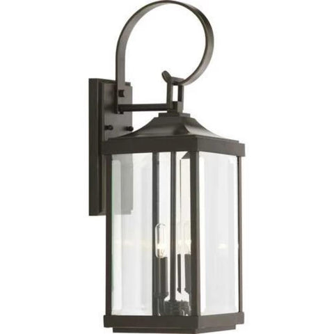 Gibbes Outdoor Wall Lantern, 2-Light Lantern, Antique Bronze