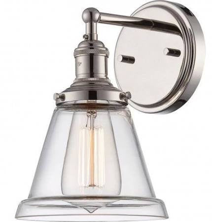 Vintage Wall Sconce in Polished Nickel by Nuvo Lighting 60-5412