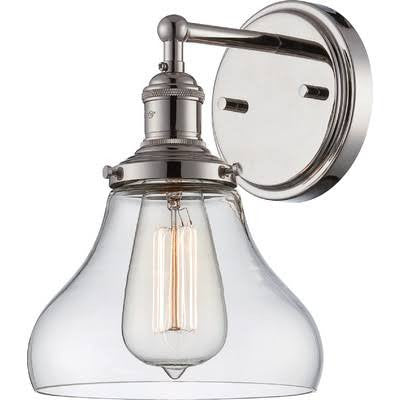 Vintage Wall Sconce in Polished Nickel by Nuvo Lighting 60-5413