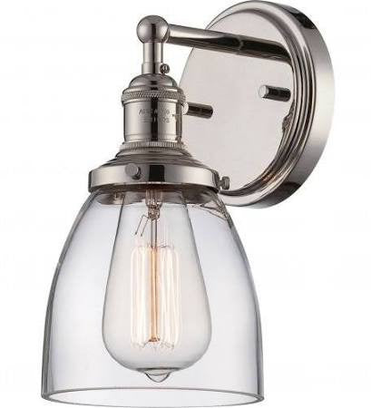 Vintage Wall Sconce in Polished Nickel by Nuvo Lighting 60-5414