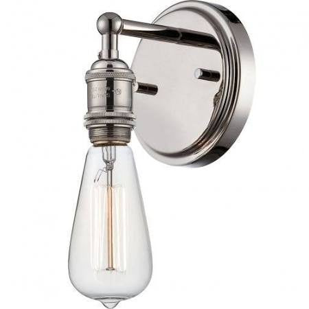 Vintage Wall Sconce in Polished Nickel by Nuvo Lighting 60-5415