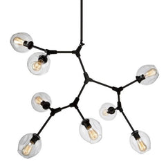 Organic Chandelier by Artcraft Lighting JA140289BK | Black Metal Chandelier
