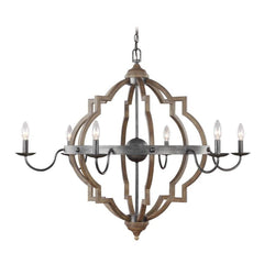 Colton 6-Light Chandelier, Chandelier, Stardust