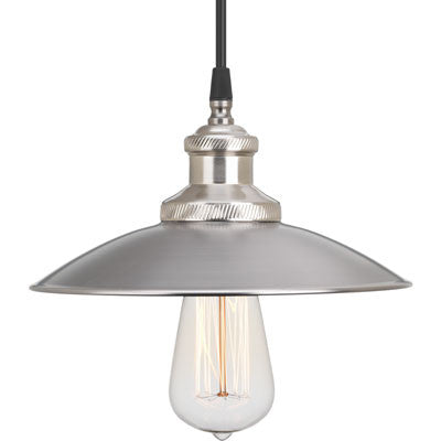 Small Archives Pendant in Antique Nickel with Brushed Nickel Accents by Progress P5161-81
