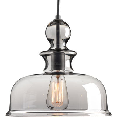 Progress Lighting Staunton Pendant in Graphite with Smoke Glass P5332-143