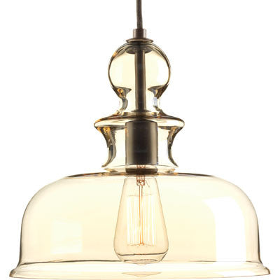 Progress Lighting Staunton Pendant in Antique Bronze with Smoke Glass P5332-20