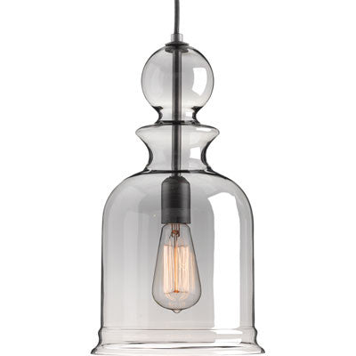 Progress Lighting Staunton Pendant in Graphite with Smoke Glass P5333-143