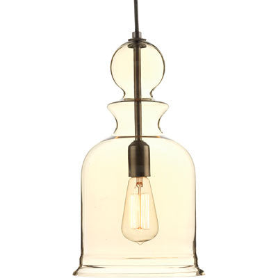 Progress Lighting Staunton Pendant in Antique Bronze with Smoke Glass P5333-20