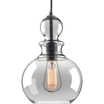 Progress Lighting Staunton Pendant in Graphite with Smoke Glass P5334-143
