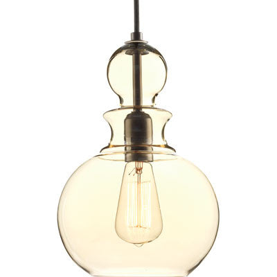 Progress Lighting Staunton Pendant in Antique Bronze with Smoke Glass P5334-20