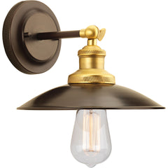 Archives Wall Sconce in Antique Bronze with Satin Brass Accents by Progress Lighting P7156-20