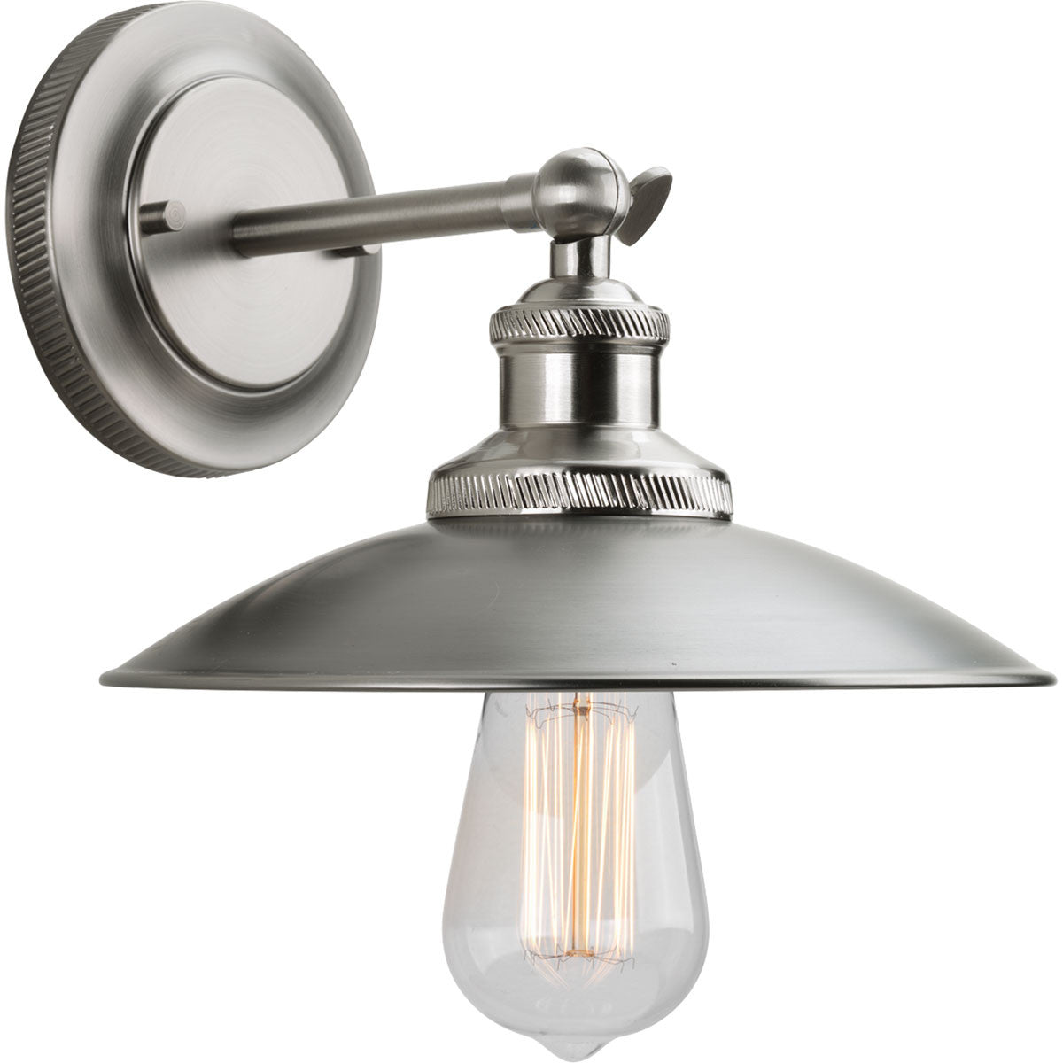 Archives Wall Sconce in Antique Nickel with Brushed Nickel Accents by Progress Lighting P7156-81