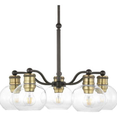 Draper 5-Light Chandelier, Chandelier, Antique Bronze