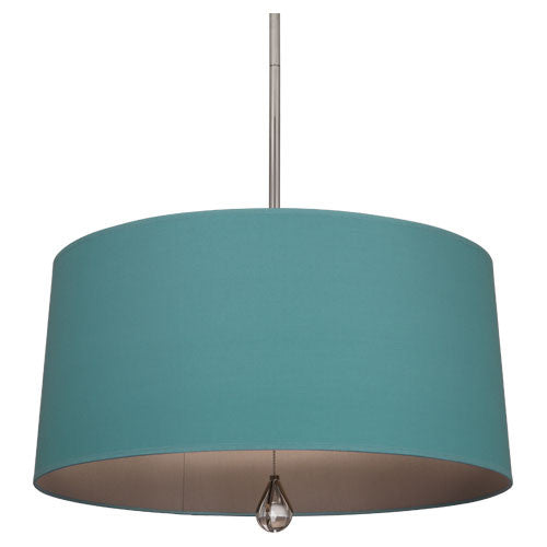Williamsburg Custis Pendant by Robert Abbey in Mayo Teal with Carter Gray Lining WB330