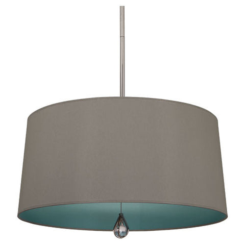 Williamsburg Custis Pendant by Robert Abbey in Carter Gray with Mayo Teal Lining WB331