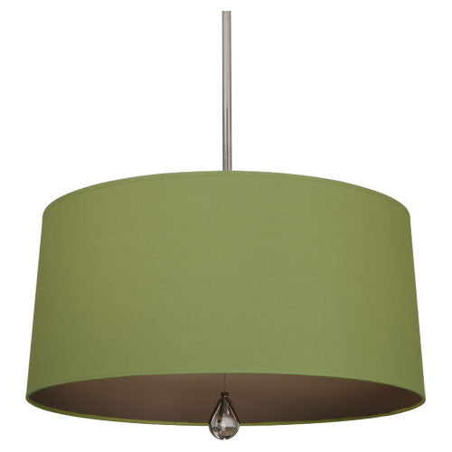 Williamsburg Custis Pendant by Robert Abbey in Parrot Green with Revolutionary Storm Lining WB332