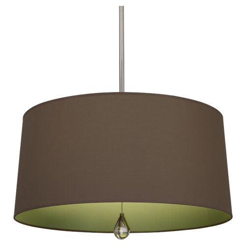 Williamsburg Custis Pendant by Robert Abbey in Revolutionary Storm with Parrot Green Lining WB333