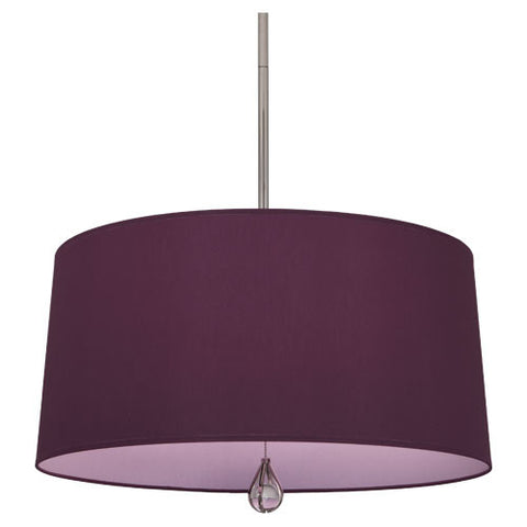Williamsburg Custis Pendant by Robert Abbey in Greenhow Grape with Ludwell Lilac Lining WB334