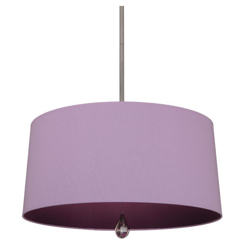 Williamsburg Custis Pendant by Robert Abbey in Ludwell Lilac with Greenhow Grape Lining WB335