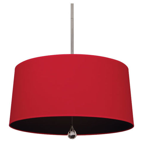 Williamsburg Custis Pendant by Robert Abbey in Richmond Red with Blacksmith Black Lining WB338