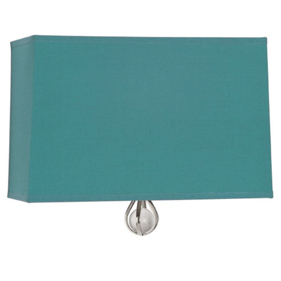 Williamsburg Curtis Wall Sconce in Mayo Teal / Carter Grey Lining by Robert Abbey,  WB340