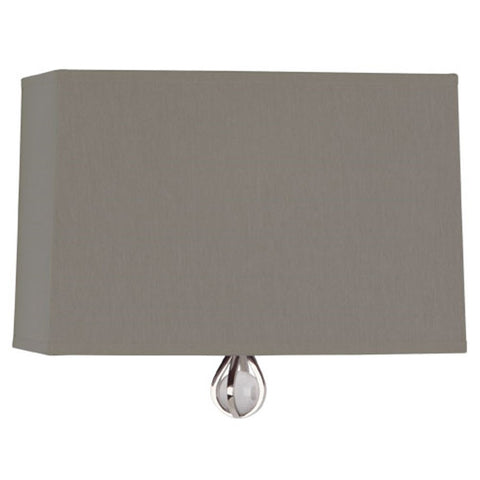 Williamsburg Curtis Wall Sconce in Carter Grey / Mayo Teal Lining by Robert Abbey,  WB341