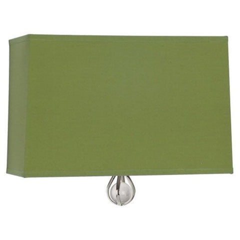 Williamsburg Curtis Wall Sconce in Parrot Green / Revolutionary Storm Lining by Robert Abbey,  WB342
