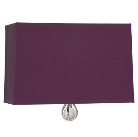 Williamsburg Curtis Wall Sconce in Greenhow Grape / Ludwell Lilac Lining by Robert Abbey,  WB344
