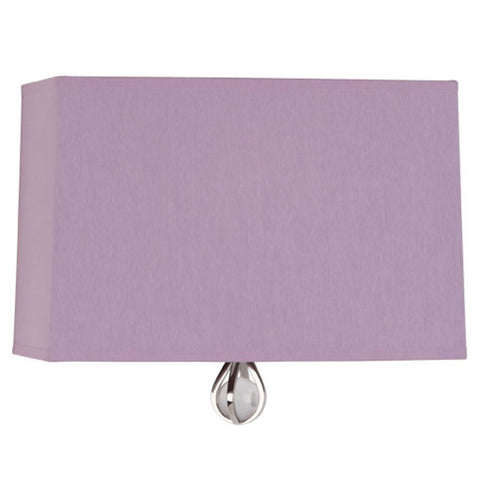 Williamsburg Curtis Wall Sconce in Ludwell Lilac / Greenhow Grape Lining by Robert Abbey,  WB345