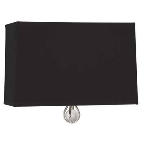Williamsburg Curtis Wall Sconce in Blacksmith Black / Richmond Red Lining by Robert Abbey,  WB349