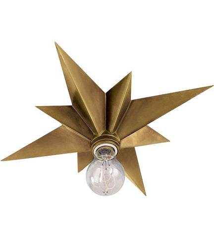 Visual Comfort Star Flush Mount in Hand-Rubbed Antique Brass SC4000HAB