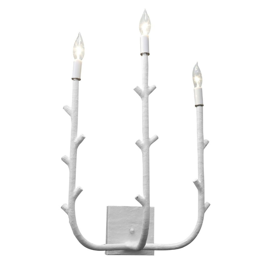 Stray Dog Designs 3 Light Fred Sconce in White, FredSconce_White