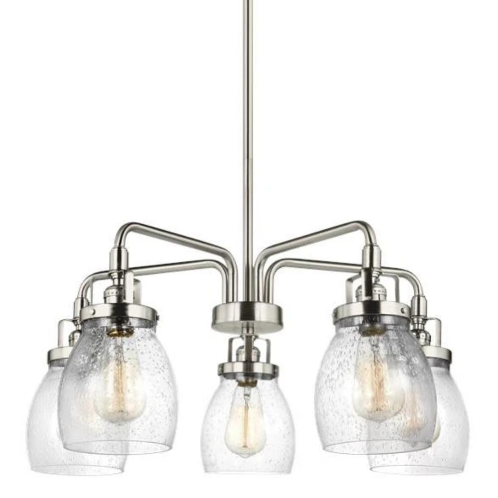 Sea Gull Belton 5 Light Chandelier in Brushed Nickel 3114505-962