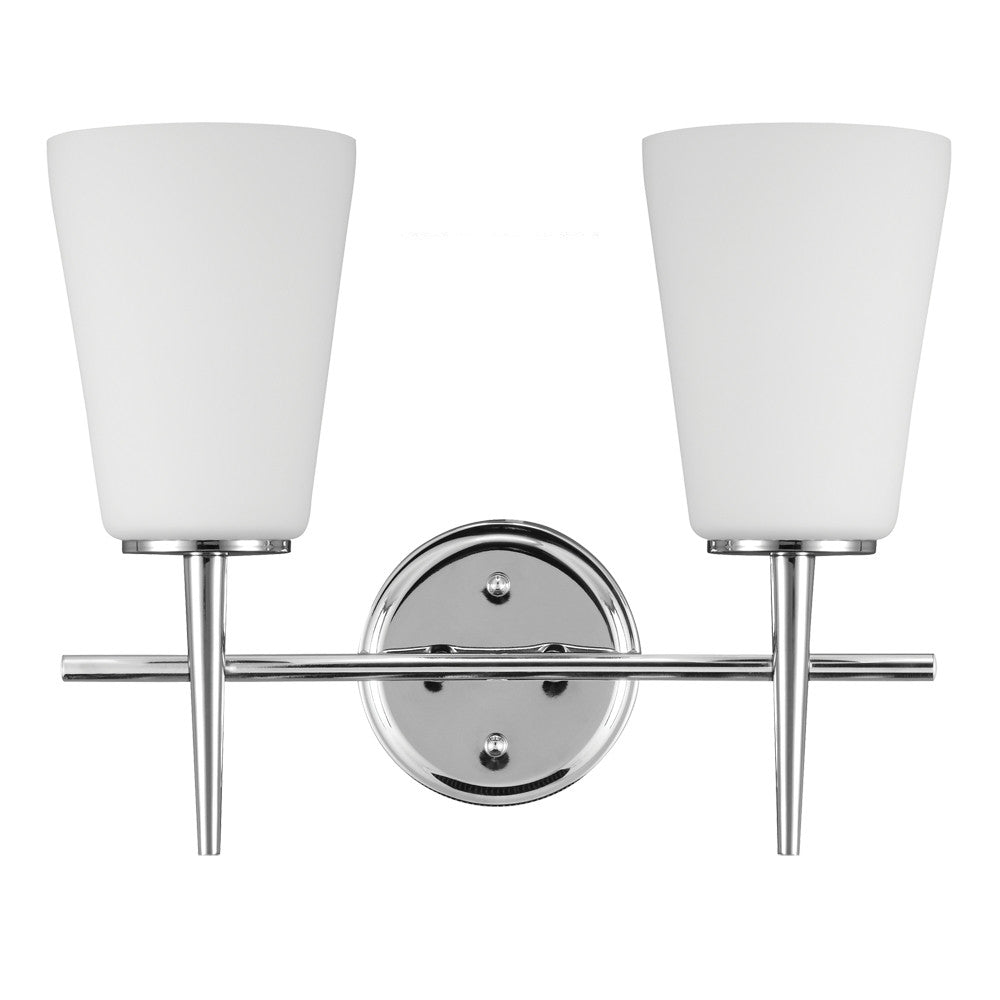 2 Light Driscoll Bath Light in Chrome, by Seagull Lighting, 4440402-05