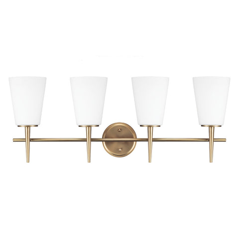4 Light Driscoll Bath Light in Satin Bronze, by Seagull Lighting, 4440404-848