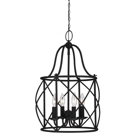 Turbinio Lantern Pendant with Blacksmith finish by Sea Gull Lighting 5116404-839