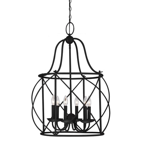 Turbinio Lantern Pendant with Blacksmith finish by Sea Gull Lighting 5116406-839