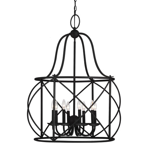 Turbinio Lantern Pendant with Blacksmith finish by Sea Gull Lighting 5116408-839