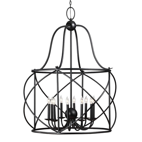 Turbinio Lantern Pendant with Blacksmith finish by Sea Gull Lighting 5116410-839