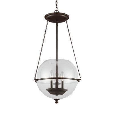 3-Light Havenwood Pendant in Autumn Bronze by Sea Gull Lighting 6511903-715