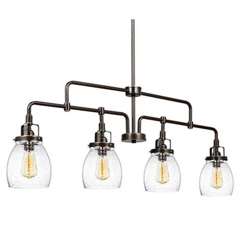 Belton Linear Chandelier in Heirloom Bronze, by Seagull Lighting, 6614504-782