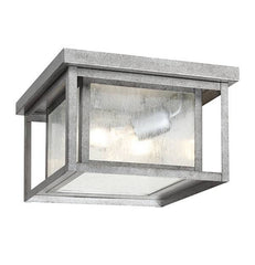 Hunnington Outdoor Ceiling Mount in Weathered Pewter, by Seagull Lighting, 78027-57