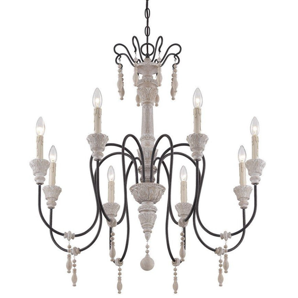 Ashland 8 Light Chandelier in White Washed Driftwood by Savoy House 1-291-8-23_2