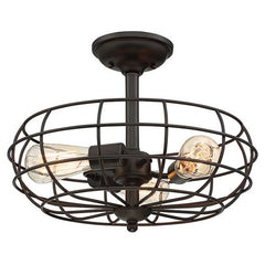 Scout Semi Flush in English Bronze by Savoy House 1-8075-13
