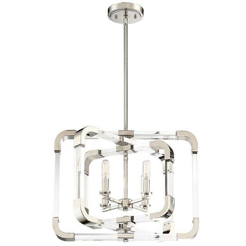 Rotterdam 4 Light Pendant in Polished Nickel by Savoy House 6-1662-4-109
