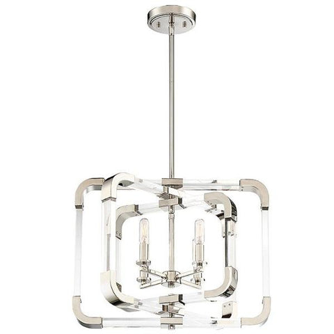 Rotterdam 4 Light Pendant in Polished Nickel by Savoy House 6-1662-4-109_D