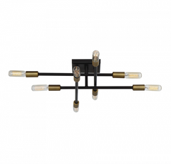 Lyrique Bronze and Brass Ceiling Mount by Savoy House 6-7003-8-77