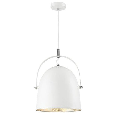 Cypress 1 Light Pendant in White with Silver Leaf by Savoy House 7-15000-1-123